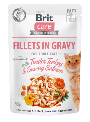 Brit Care® Cat Pouches with Turkey & Salmon