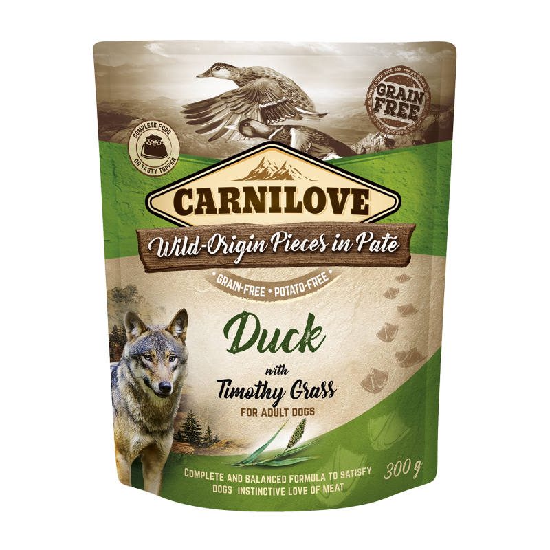 Carnilove® Pouches Duck with Timothy Grass
