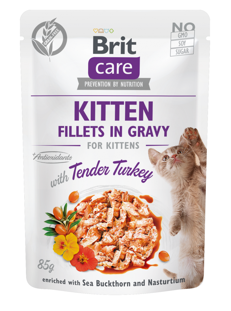 Brit Care® Cat Pouches with Turkey for Kinttens