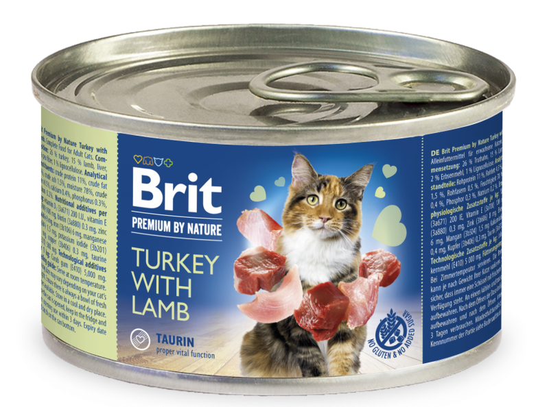 Brit Premium® Cat Cans Turkey with Lamb